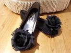黒×黒ラメ薔薇